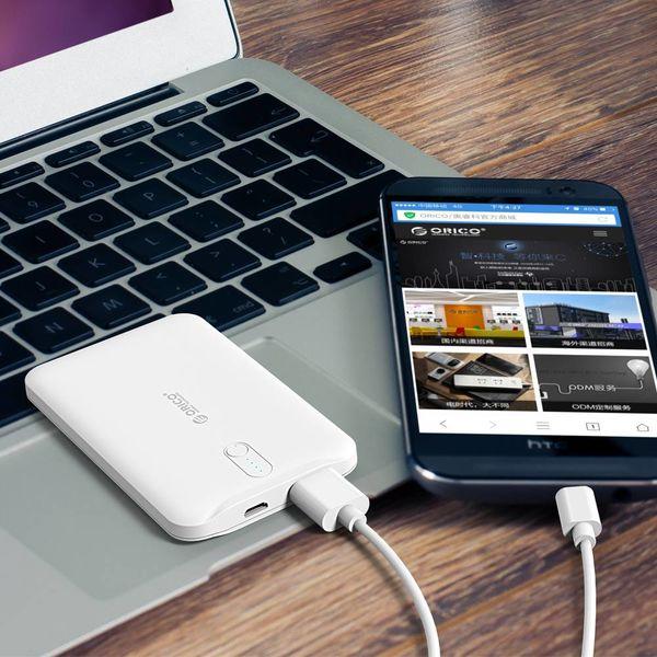 Orico 2500mAh Powerbank S-Charge Li-Po batterij oplaadbaar inclusief kabel - wit