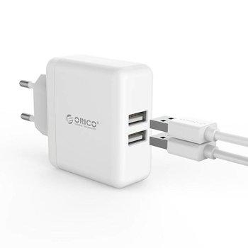 Orico Orico Compacte dual charger - reis/thuislader met 2x USB-laadpoorten – Wit