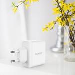 Orico Chargeur double USB - chargeur de voyage / maison avec 2 ports de chargement USB - puce IC - 15W - Blanc