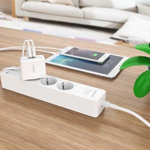 Orico Dual-USB-Ladegerät - Reise / Home-Ladegerät mit 2x USB-Lade-Ports - IC-Chip - 15W - Weiß