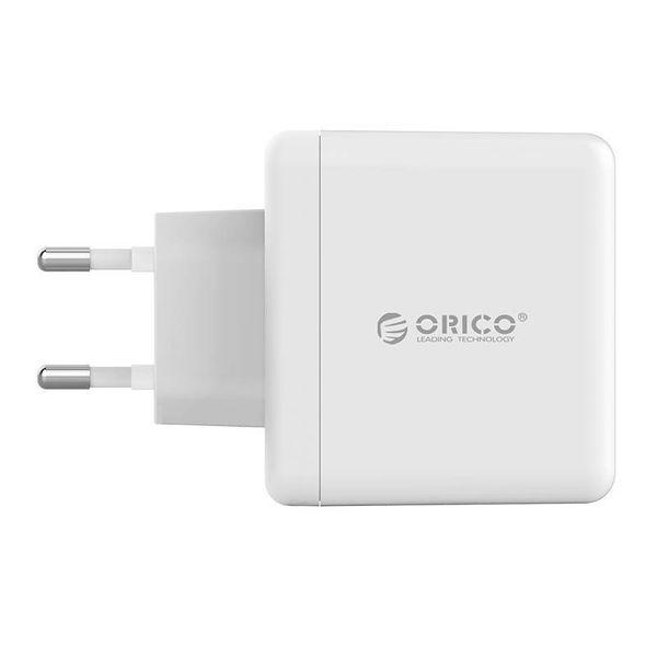 Orico Duales USB-Ladegerät - Reise- / Heimladegerät mit 2x USB-Ladeanschlüssen - IC-Chip - 15 W - Weiß