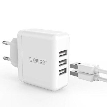 Orico Compacte reis/thuislader met 3x USB-laadpoorten – wit