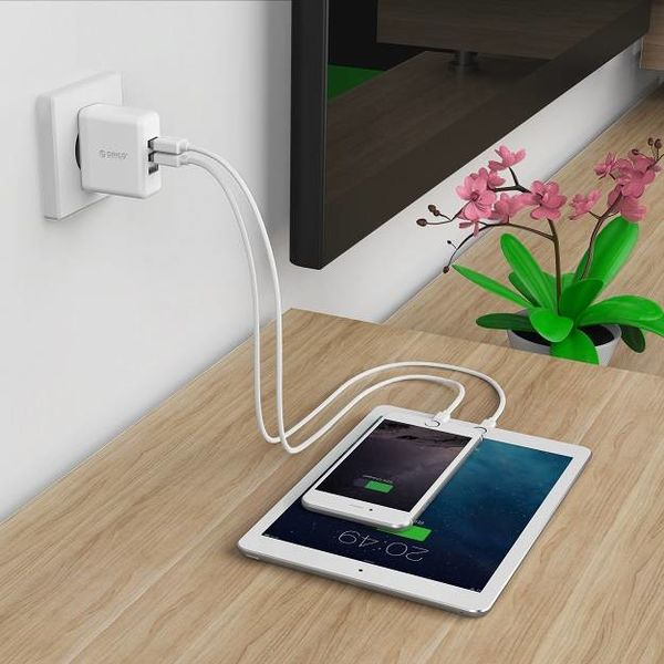 Orico 3-Port Smart Wall Charger - White