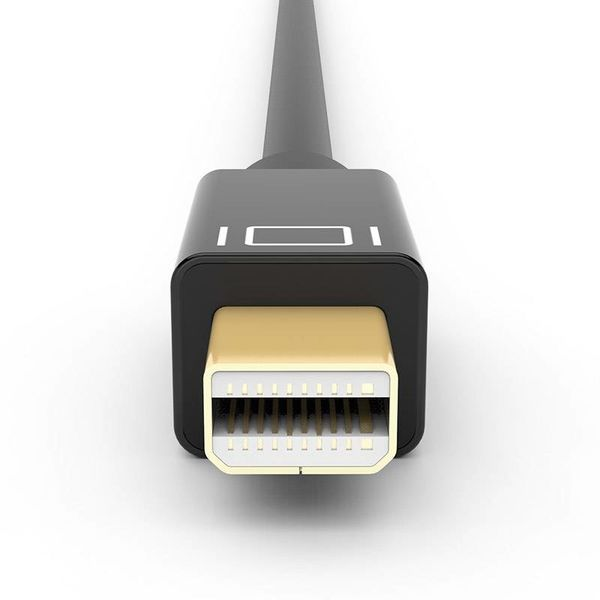 Gold Plated Mini DisplayPort to HDMI cable 2k Full HD - 5 meter black - Copy - Copy