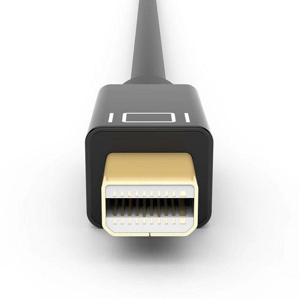 Gold überzogenes Mini Displayport auf HDMI-Kabel 2k HD - 5m schwarz - Copy - Copy - Copy