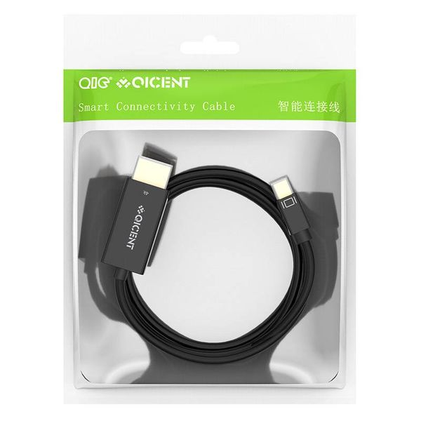 Gold Plated Mini DisplayPort to HDMI cable 2k Full HD - 5 meter black - Copy - Copy - Copy