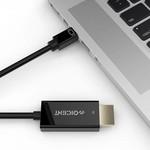 2 Meter 4K Gold Plated Mini DisplayPort zu HDMI Kabel 4K UHD