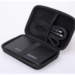 Orico Tragbare Schutzhülle / Schutztasche für eine 2,5-Zoll-Festplatte - Enthält Platz für Kabel usw. - Feuchtigkeitsfest, staubdicht und antistatisch - Schwarz