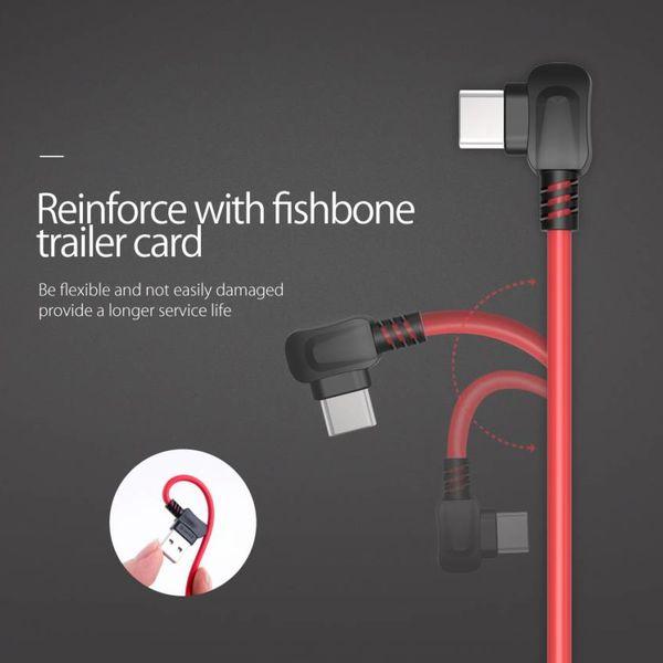 Orico Stylisches USB-Typ-A-USB-Typ-C-Ladekabel - 2.4A - Hergestellt aus hochwertigen Materialien - Länge: 1 Meter - Rot