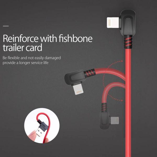 Orico USB Type-A naar Lightning laadkabel - 2.4A - Kabellengte: 1 meter - Hoge kwaliteit materialen - Rood