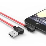 Orico Câble de recharge USB Type-A à Lightning - 2.4A - Longueur du câble: 1 mètre - Matériaux de haute qualité - Rouge