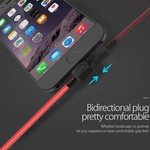 Orico USB Type-A to Lightning charging cable - 2.4A - Cable length: 1 meter - High quality materials - Red