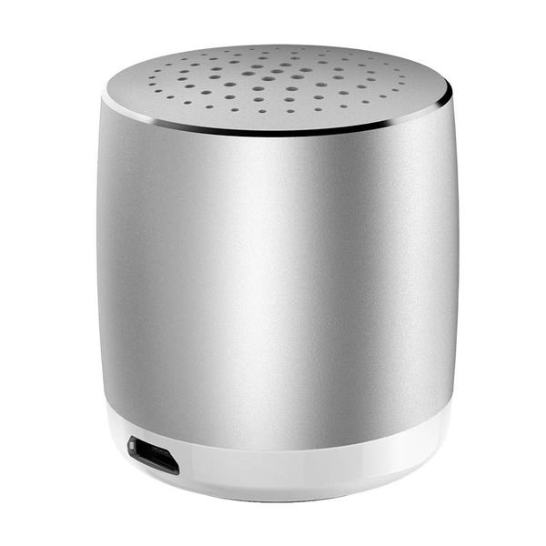 Orico Aluminum Portable Mini Bluetooth Speaker - 53dB - Bluetooth 4.2 - Range: 10 meters - 3W - Includes Micro USB cable - Silver