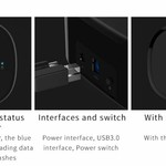 Orico Docking station for 2.5 inch or 3.5 inch hard disk - HDD / SSD - Incl. data cable and power adapter - LED indicator - High Gloss Black