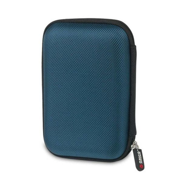 Orico Housse de protection portable / sac de protection pour un disque dur de 2,5 pouces - Comprend un espace pour les accessoires - Résistant à l'humidité, à la poussière et antistatique - Bleu