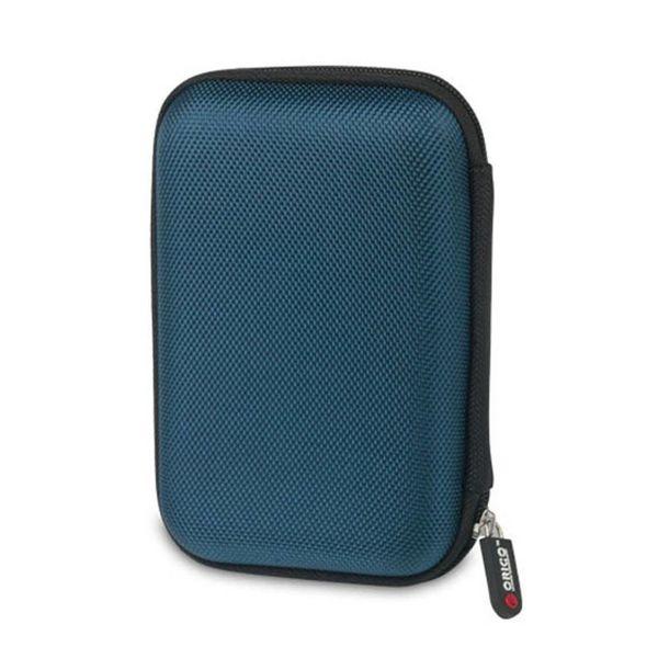 Orico Tragbare Schutzhülle / Schutzhülle für eine 2,5-Zoll-Festplatte - Enthält Platz für Zubehör - Feuchtigkeitsbeständig, staubdicht und antistatisch - Blau