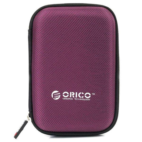 Orico Étui de protection portable / sac de protection pour un disque dur de 2,5 pouces - Comprend un espace pour les accessoires - Étanche à l'humidité, à la poussière et antistatique - Violet