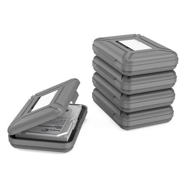 Orico Stabile Schutzbox für eine 3,5 Zoll Festplatte - Mit Beschriftungsschild - PP Kunststoff - Grau