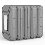 Orico Housse de protection portable / boîte de protection pour un disque dur de 3,5 pouces - Résistant à l'humidité, à la poussière et antistatique - Plastique PP - Comprend une étiquette d'écriture - Gris