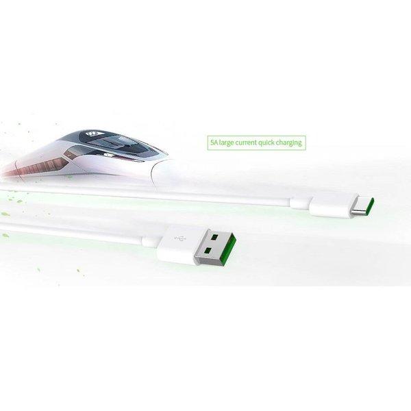 Orico Leistungsstarkes Ladekabel vom Typ C - 5 Ampere - Schnellladung und Synchronisation -50cm - Weiß