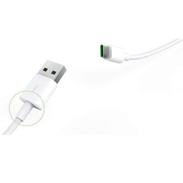 Orico Câble de charge puissant de type C - 5 ampères - Charge rapide et synchronisation -50cm - Blanc