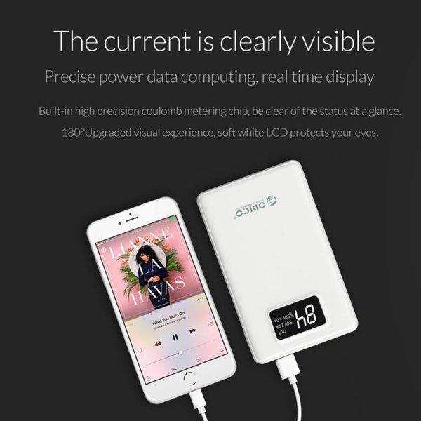 Orico Powerbank 12.000mAh avec Smart Charge - Batterie LiPo - Indication par LED