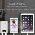 Orico 12.000mAh Power Bank mit Smart Charge - LiPo-Akku - LED-Anzeige