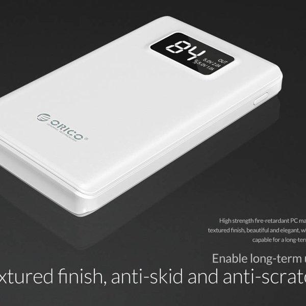 Orico 12.000mAh Powerbank met Smart Charge - LiPo Batterij - LED-indicatie