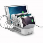Orico Multi charger docking station 70W 7 Port USB charging station - White