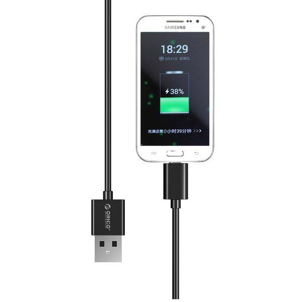 Orico Câble de charge et de données USB Type-A vers Micro USB - 3A - Longueur de câble: 50 cm - Noir