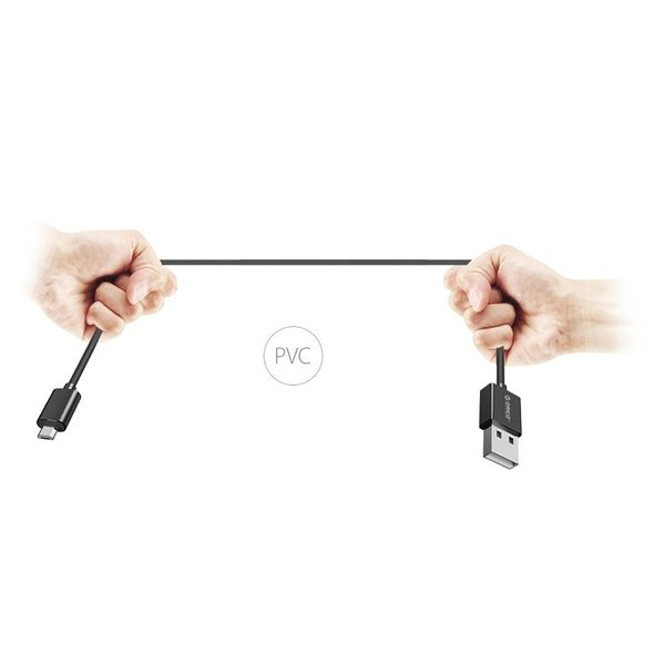 Orico USB Type-A to Micro USB Charging and Data Cable - 3A - Cable length: 50CM - Black