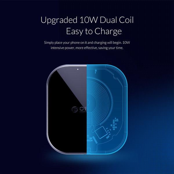 Orico Chargeur sans fil avec 10W de charge rapide ultra mince 5.8mm
