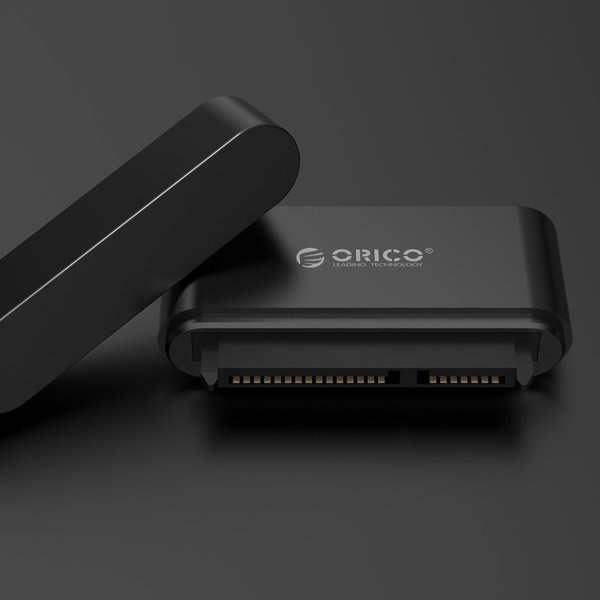 Orico Compact 2.5 inch USB3.0 to SATA III Hard Drive Adapter - 2.5 inch HDD / SSD - 5Gbps - UASP - Cable length 50cm - Black