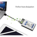 Orico Kompakter 2,5-Zoll-USB3.0-zu-SATA-III-Festplattenadapter - 2,5-Zoll-Festplatte / SSD - 5 Gbit / s - UASP - Kabellänge 50 cm - Schwarz