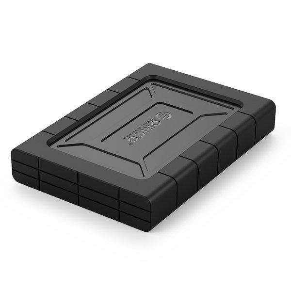 Orico Boîtier de disque dur antichoc 2,5 pouces - HDD / SSD - Housse de protection en silicone - UASP - 5Gbps - Incl. câble- Noir