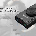 Orico Externe Geluidskaart met Volumeregelaar - Stereo en Audio - =>80 dB - Zwart