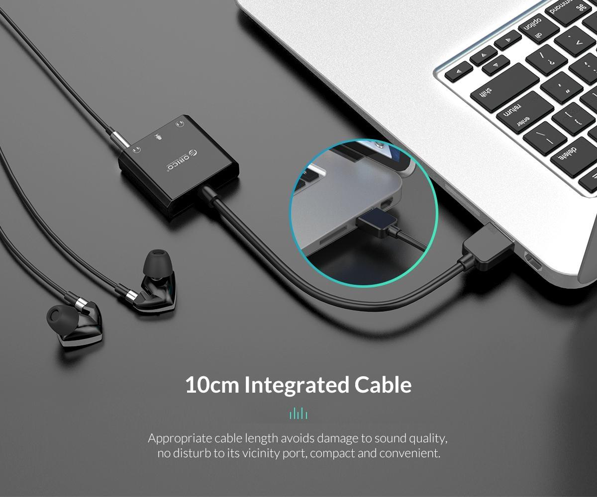 usb geluidskaart met kabel microfoon speaker en headset functie orico. Black Bedroom Furniture Sets. Home Design Ideas