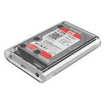 Orico Boîtier de disque dur transparent 3,5 pouces - SATA III - USB3.0 - 5 Gbps