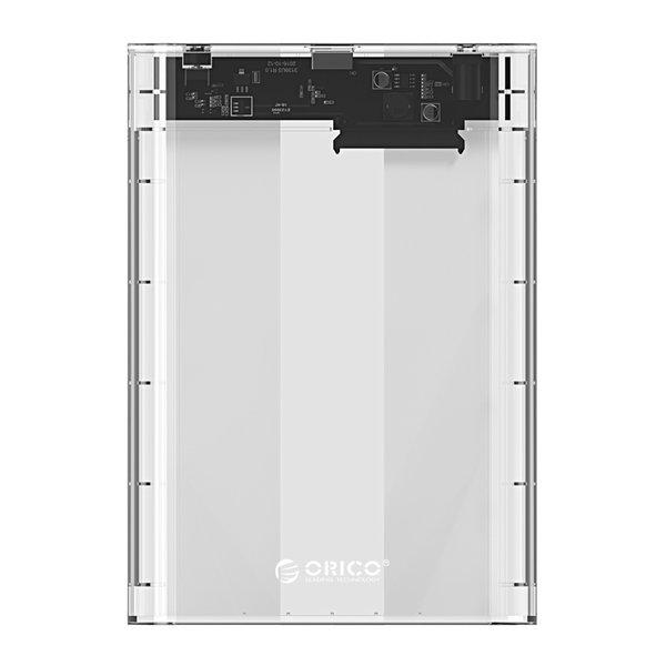 Orico Transparentes Festplattengehäuse 3,5 Zoll - SATA III - USB3.0 - 5 Gbps