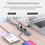 Orico Hub USB3.0 transparent avec 7 ports - 5 Gbps - Indicateur LED spécial - Câble de données de 100cm