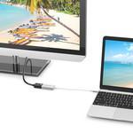 Orico Aluminium USB-C naar DisplayPort Adapter – 4K Ultra HD @60Hz - voor MacBook, Mi NoteBook Air, Huawei MateBook en Lenovo YOGA – Mac Style – 15CM Kabel – Zilver