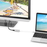 Orico Aluminium USB-C zu Mini DisplayPort Adapter - 4K Ultra HD bei 60Hz - für MacBook, Mi NoteBook Air, Huawei MateBook und Lenovo YOGA - Mac Style - 15CM Kabel - Silber