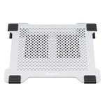 Orico Multifunctional aluminum laptop cooler / laptop holder with fans - Heat conduction, Cable management and Ergonomic posture - 21dB - for Laptops up to 15 Inch - Mac Style - Silver