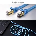 Orico RJ45 Gigabit Ethernet-Kabel - CAT6 - 1000 Mbit / s - Rundkabel mit einer Länge von 1 Meter - Geeignet für Router, Wärmetauscher, Hub usw. - Vergoldeter Stift - Blau