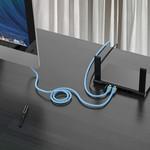Orico RJ45-Gigabit-Ethernet-Kabel - CAT6 - 1000 Mbit / s - Rundkabel mit einer Länge von 2 Metern - Geeignet für Router, Wärmetauscher, Hub usw. - Vergoldeter Stift - Blau