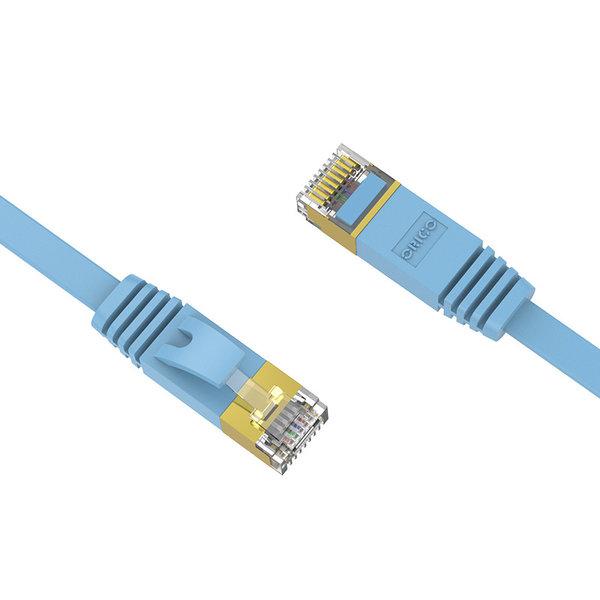 Orico Câble Ethernet CAT6 - 1 mètre - bleu - câble plat