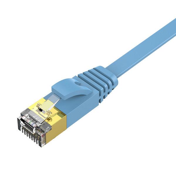 Orico RJ45 Gigabit Ethernet kabel – CAT6 – 1000Mbps – Platte kabel  van 5 meter lang – Geschikt voor o.a. router, exchanger, hub etc. -  Goud vergulde pin – Blauw