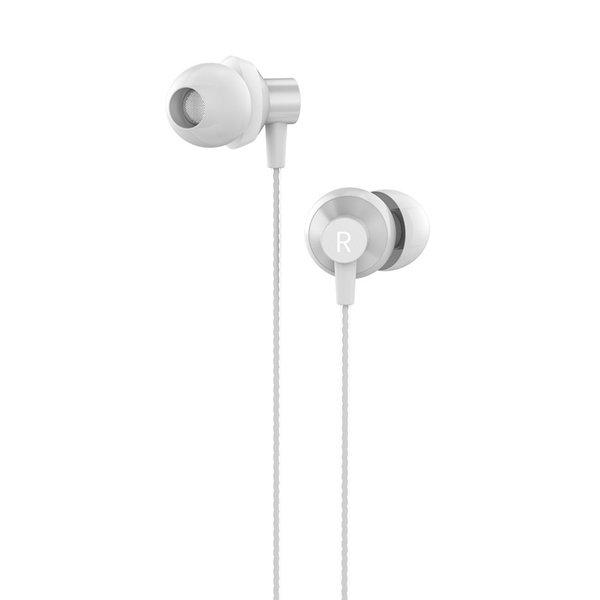 Orico Écouteurs intra-auriculaires Soundplus - écouteurs / casque avec microphone et bouton de commande - prise 3,5 mm - Haute résolution audio - Longueur 1,2 M - Blanc