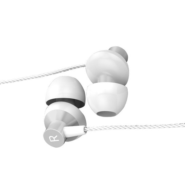 Orico In-ear Soundplus earphones - headphones / headset with microphone and control button - 3.5mm jack - High audio resolution - Length 1.2M - White