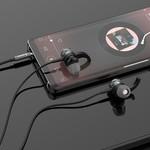 Orico In-ear Soundplus sport headset - koptelefoon/oortjes met microfoon, bedieningsknopje en volumeregelaar - 3.5mm jack - Hoge audio resolutie - Lengte 1.2M - Geweven mesh draad - Zwart